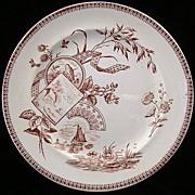 English Transferware Victorian Plate ~ TENNYSON 1884