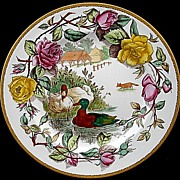 SALE Wedgwood Polychrome Rack Plate ~ Game Birds DUCKS 1903