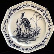 SALE Fontaine's Fables ~ Proud Heron and the Fish 1880