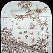 English Victorian Transfer Platter ~ MELBOURNE 1880