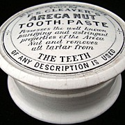 SALE English Victorian Areca Nut Tooth Paste Pot 1880