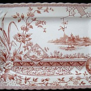 SALE Bengal Shape Aesthetic Movement Era Platter ~ 1890