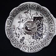 Rare Brown Transferware PICKLE Platter ~ FAISAN 1881