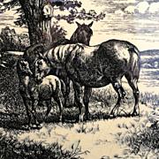 Wm Wise Farm Horses Minton Tile 1879