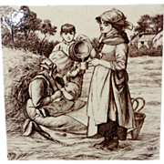 SALE William Wise ~ Country Life Tile ~ TeaTime 1882