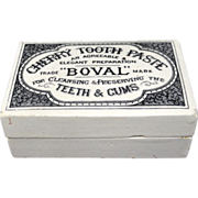 SALE English Victorian Hygienic Cherry Tooth Paste Pot 1880