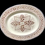 SALE Huge Victorian Aesthetic Movement Era Platter ~ PRIMROSE 1881