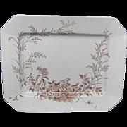 Brown Aesthetic Movement Platter  ~ MONTREAL ~ 1888