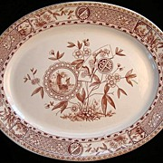 SALE Aesthetic Movement Brown Platter ~ SITKA 1885