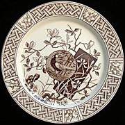 SALE Aesthetic Brown Plate ~ PHEASANT 1880