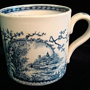 Antique Aesthetic Movement Mug ~ Raspberries 1886