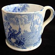 SALE Miniature Staffordshire  Mug ~ Hannibal Crossing Alps 1830