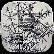 Outstanding Aesthetic Cake Plate ~ Herd of Deer 1883