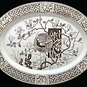 Minton Aesthetic Transferware Platter ~Faisan Pheasant 1880