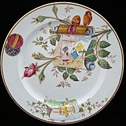SALE Superb Multi-Colored Aesthetic Plate ~ ROSEBUD 1883