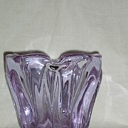 Tiffin Twilight # 33 Square Vase with 10 Rib Optic