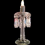 Heisey Windsor Crystal Electroportable Candelabra Lamp # 241 Circa 1915