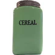McKee Jadite 28 Ounce Cereal Canister