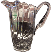 Heisey Crystolite Crystal Swan Handled Pitcher