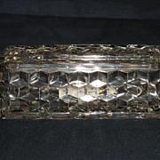 Fostoria American Jewel Box w/ Lid in Excellent Condition