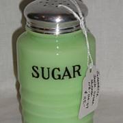 "Jeannette Glass Jadite ""Sugar"" Shaker"