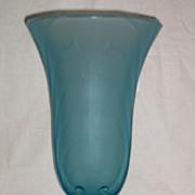 Tiffin Velva Frosty (Satin) Regal Bright Blue Vase