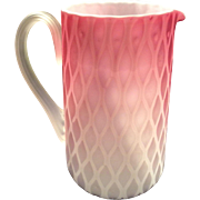 Phoenix Art Glass Air-Trap Tankard with Ruby Die-Away to Crystal over Opal and ...