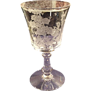 Fostoria Colfax Goblet with Willow Etch (8 Available)
