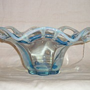 Duncan Miller Murano Blue Opalescent Bowl