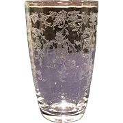 Fostoria Crystal Navarre #327 Etched 12 Ounce Hiball Tumbler