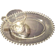 Imperial Crystal Candlewick #400/98 Two Piece Party Snack Set