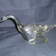 Heisey Glass Goose # 2 Wings Halfway Up