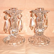Fostoria Colony Pair of 1-lite Lustres