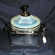 Popcorn Maker with Fry Glass Opalescent Lid