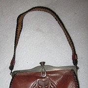 Jemco Arts & Crafts Tooled Leather Purse