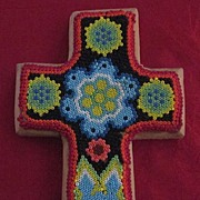 Zapotec Beaded Wooden Cross