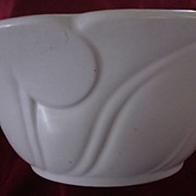 Bauer Organic Embossed White Salad Bowl