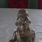 Cast Metal Standing Clown Still Bank