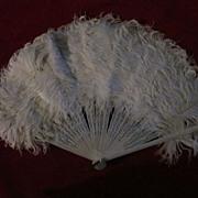 White Marabou Hand Fan
