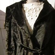 """Victorian Heavy Velvet Full Length Coat with 10"""" Fur Edged Collar"""
