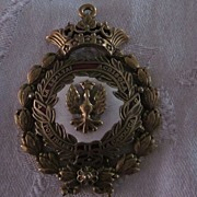 Enamel and Gold Plate Isabel the Catholic Pendant