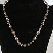"""Cini Sterling Silver Variegated Bead Necklace, 16 1/2"""""""