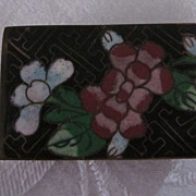 Chinese Cloisonne Match Box with Flowers