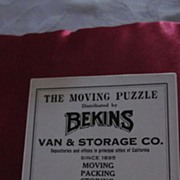 Bekins The Moving Puzzle, Wooden Furniture Moving Puzzle, 1927