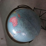 """Replogle 12"""" Reference Globe, 1940's on Wire Stand"""