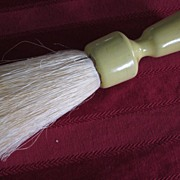Round Celluloid Handle Garment Brush