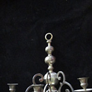 SOLD Early American Revival Brass 3 Light Candle Wall Sconce