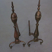 Federal Solid Brass Double Lemon Andirons