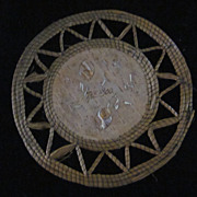 Woodlands Indian Birch Bark, Sweetgrass, Porcupine Quill Trivet