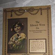 Unusual Sewing Item, Advertising Calendar/Pin Cushion